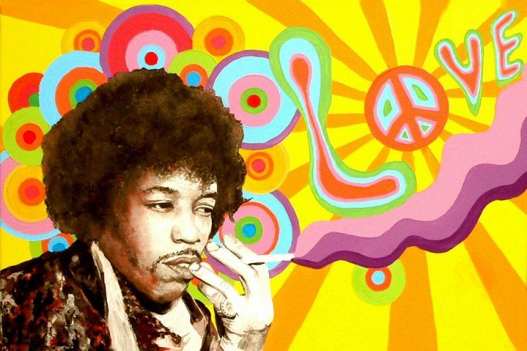 imi Hendrix im Cannabisrausch