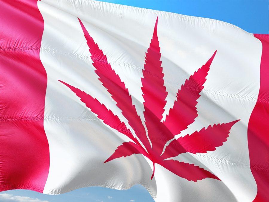 Kanadische Flagge mit Hanfblatt